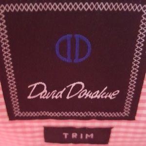 David Donahue Shirts - David Donahue Slim Fit Long Sleeve Shirt